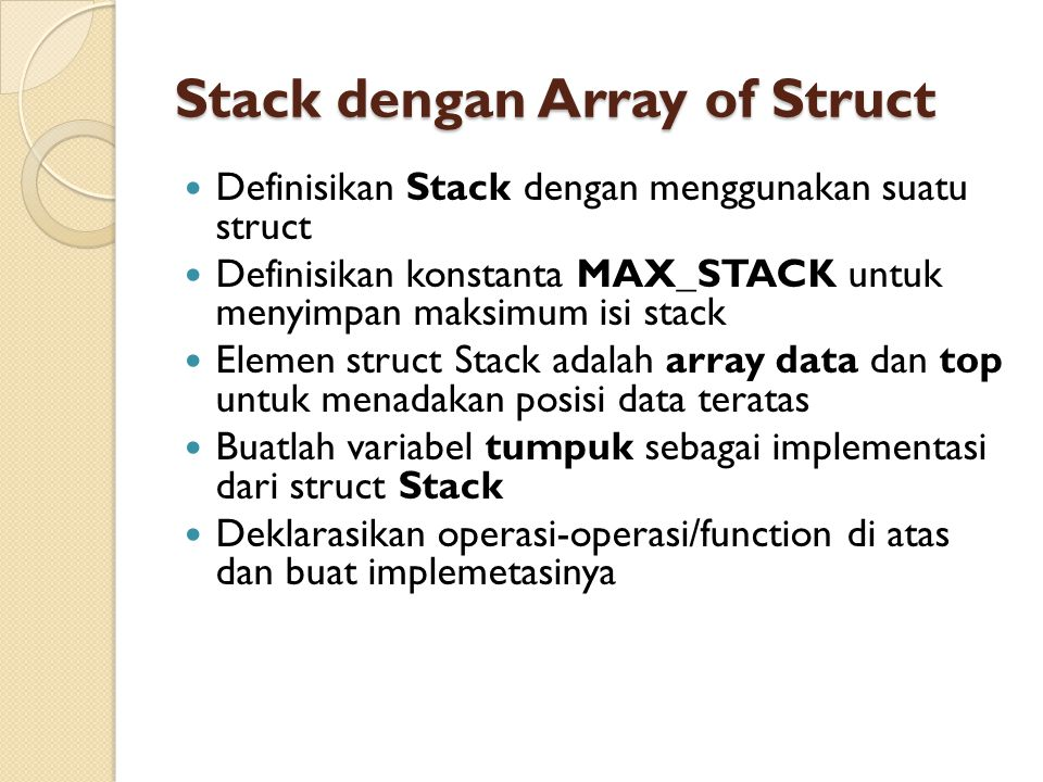 Stack dengan Array of Struct