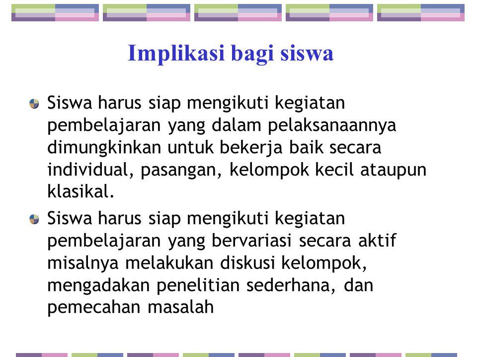 Implikasi bagi siswa
