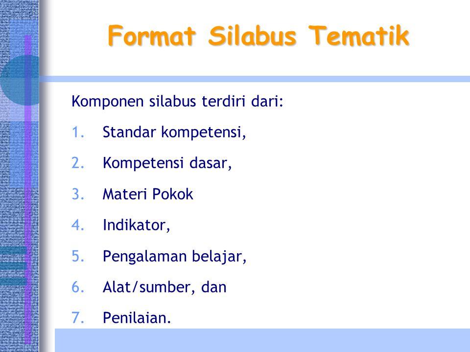 Format Silabus Tematik