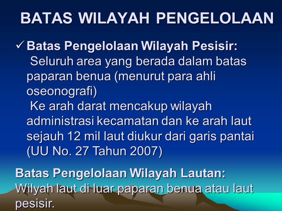 BATAS WILAYAH PENGELOLAAN