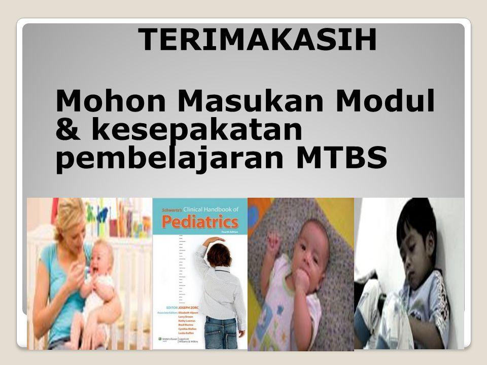 Mohon Masukan Modul & kesepakatan pembelajaran MTBS