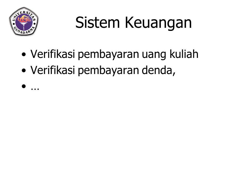 Sistem Keuangan Verifikasi pembayaran uang kuliah