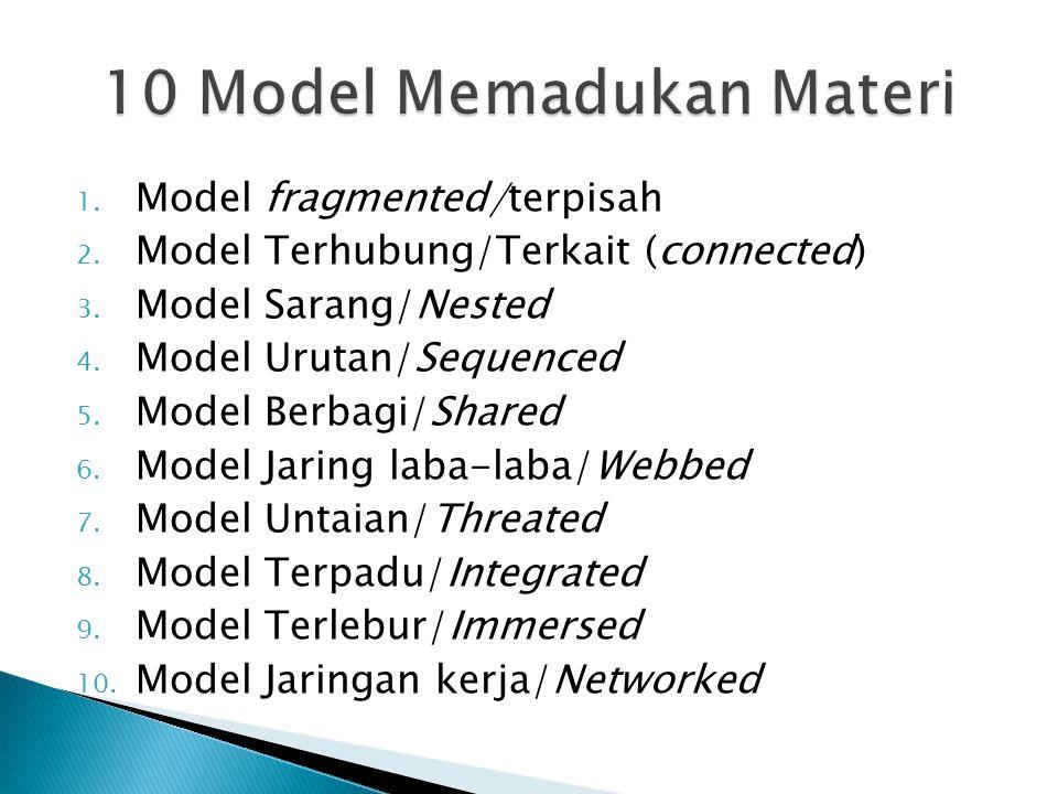 10 Model Memadukan Materi