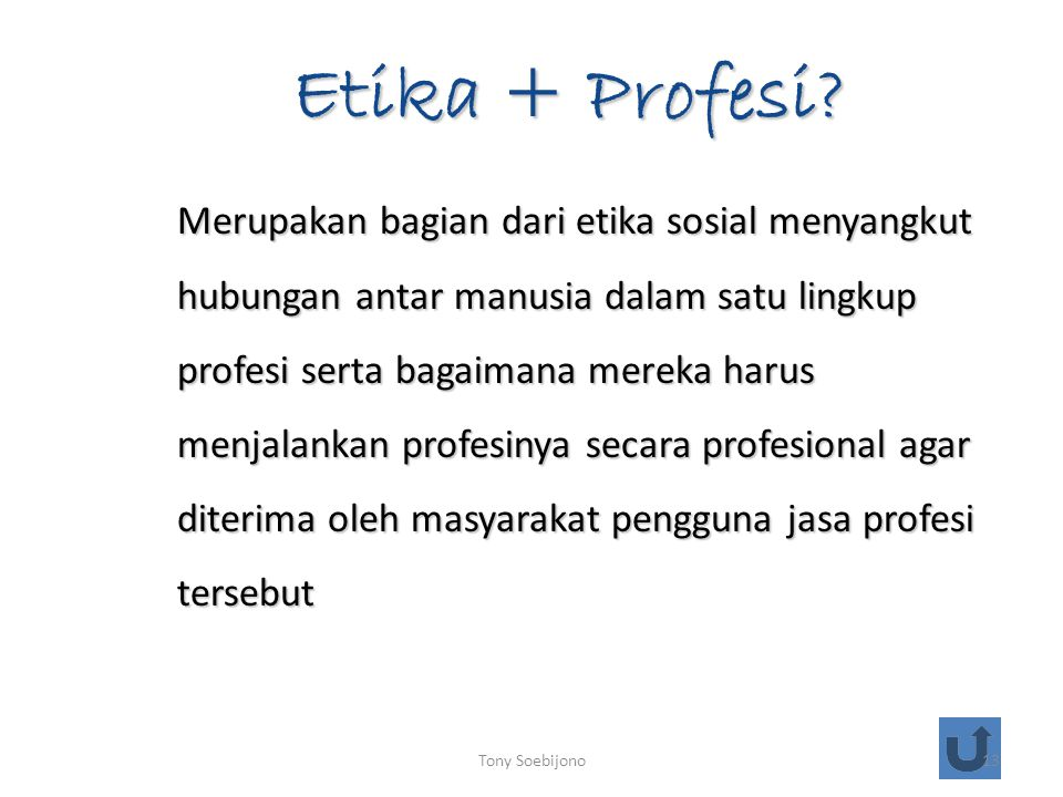Etika + Profesi