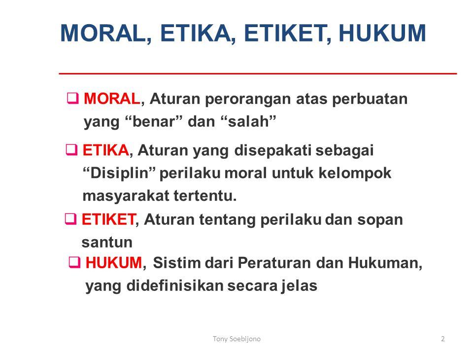 MORAL, ETIKA, ETIKET, HUKUM