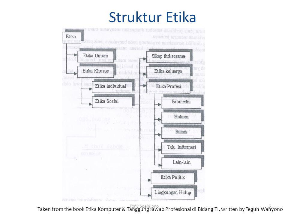 Struktur Etika Tony Soebijono.