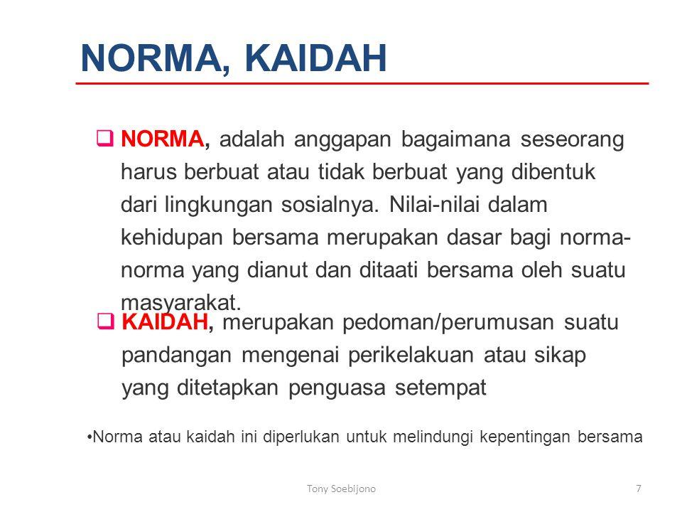 NORMA, KAIDAH