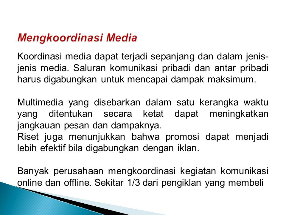 Mengkoordinasi Media