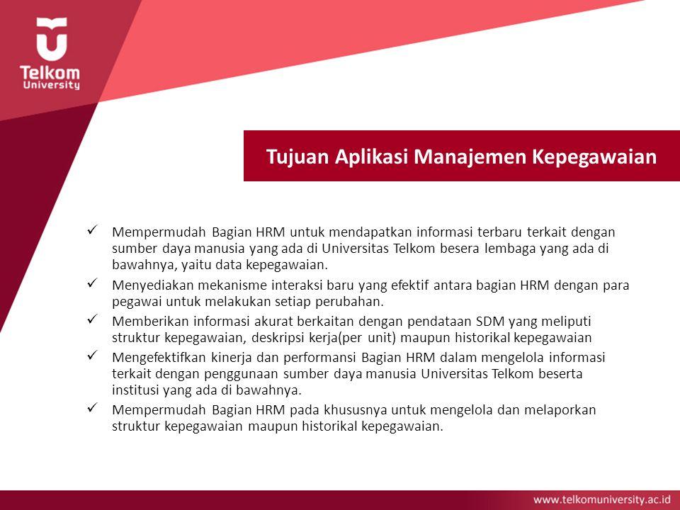 Tujuan Aplikasi Manajemen Kepegawaian