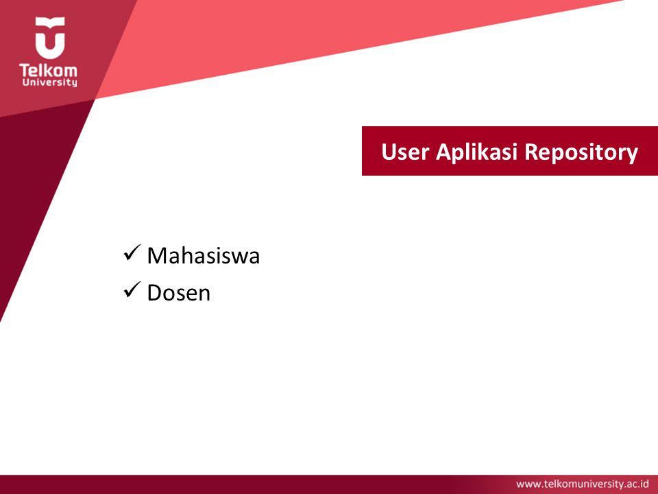 User Aplikasi Repository