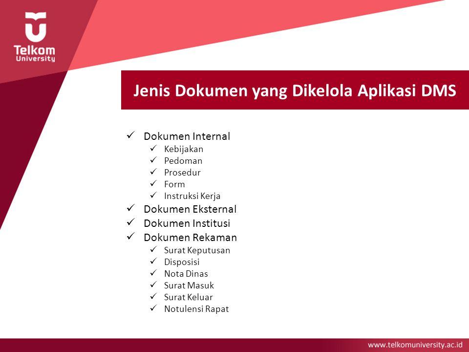 Jenis Dokumen yang Dikelola Aplikasi DMS