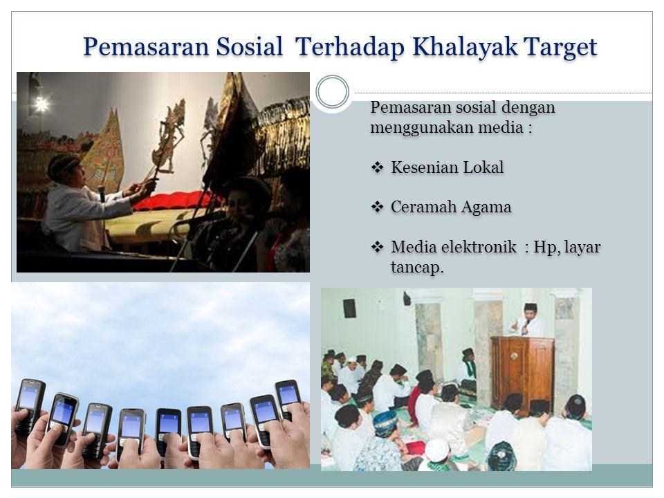 Pemasaran Sosial Terhadap Khalayak Target