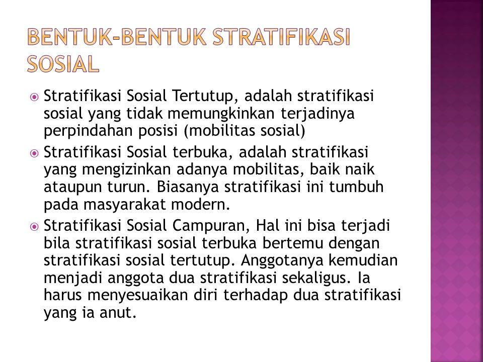 Bentuk-bentuk stratifikasi sosial