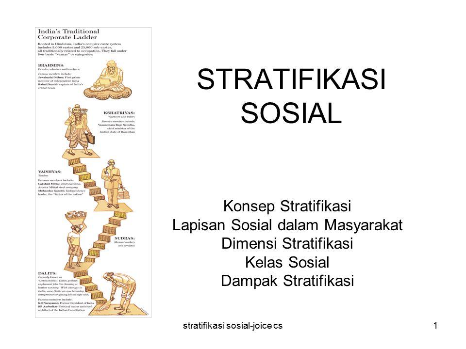 STRATIFIKASI SOSIAL Konsep Stratifikasi