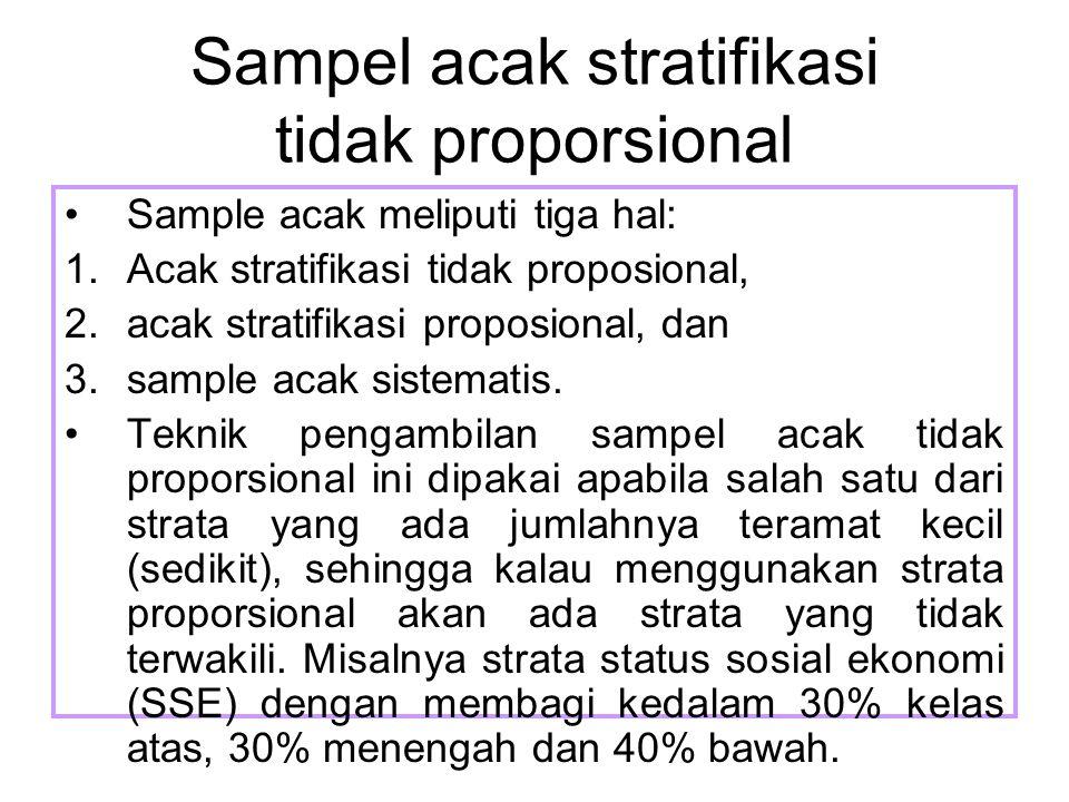Sampel acak stratifikasi tidak proporsional