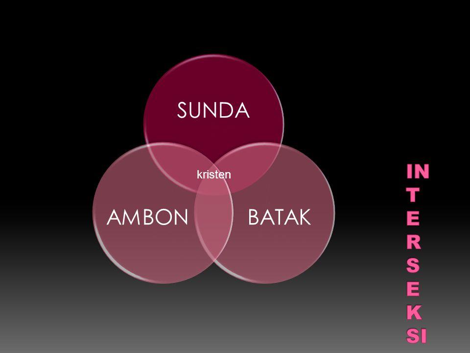 SUNDA BATAK AMBON INTERSEKSI kristen
