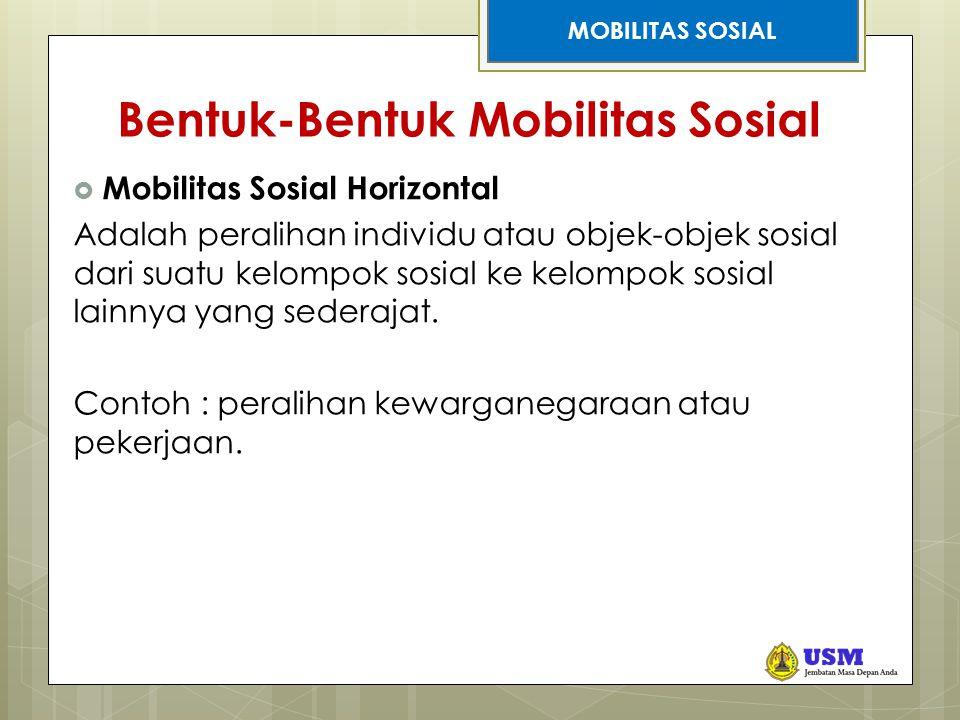 Bentuk-Bentuk Mobilitas Sosial