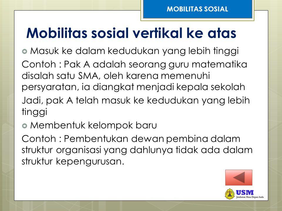 Mobilitas sosial vertikal ke atas