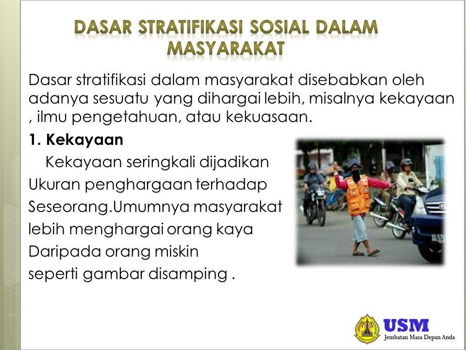 Dasar Stratifikasi Sosial Dalam Masyarakat