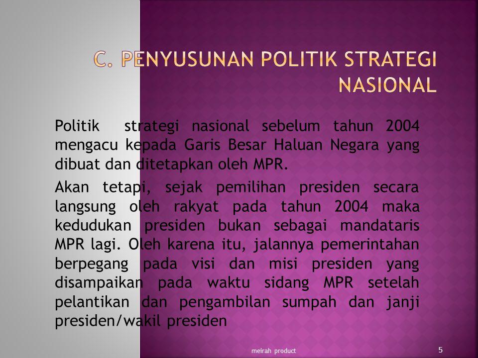C. PENYUSUNAN POLITIK STRATEGI NASIONAL