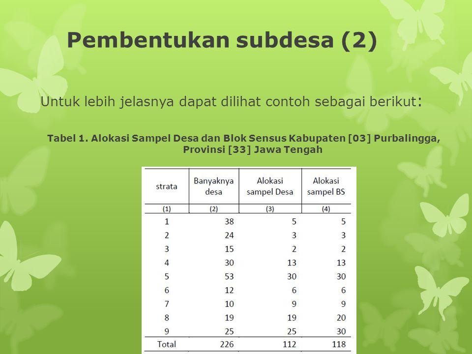 Pembentukan subdesa (2)
