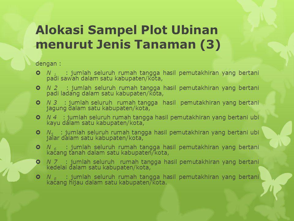 Alokasi Sampel Plot Ubinan menurut Jenis Tanaman (3)