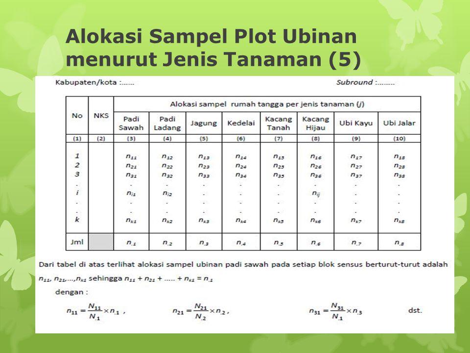 Alokasi Sampel Plot Ubinan menurut Jenis Tanaman (5)