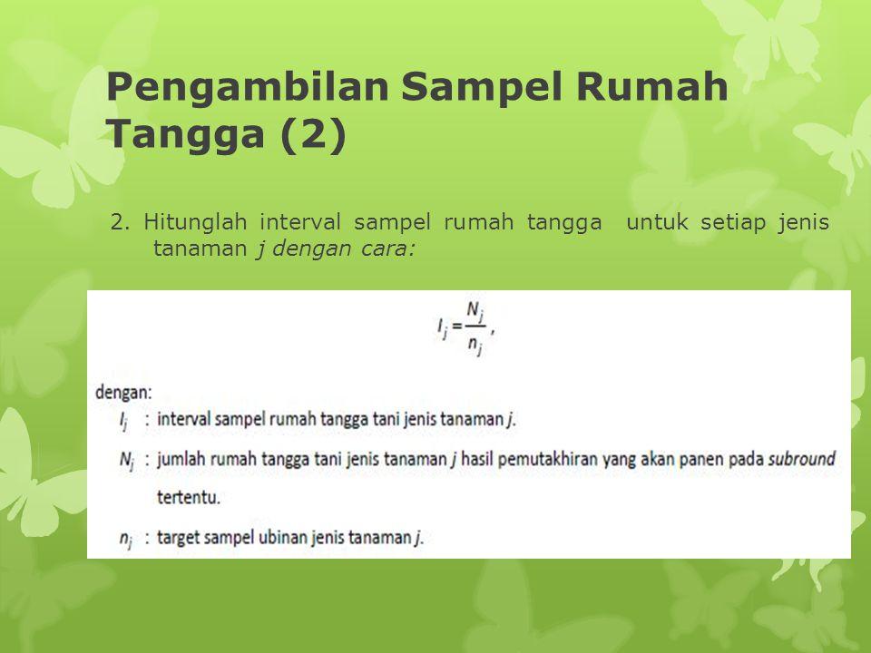Pengambilan Sampel Rumah Tangga (2)