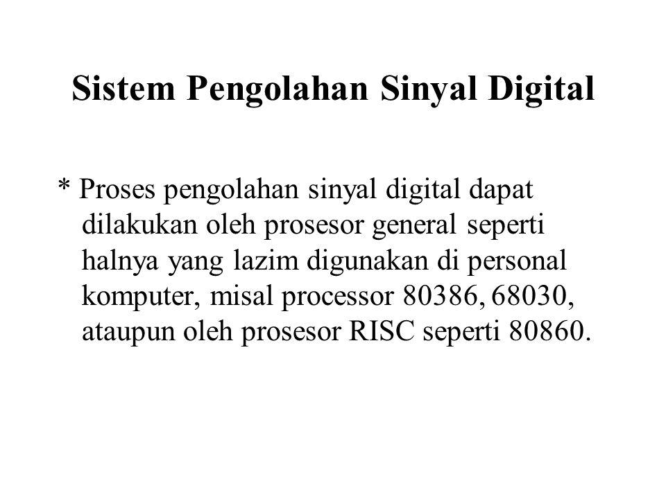 Sistem Pengolahan Sinyal Digital