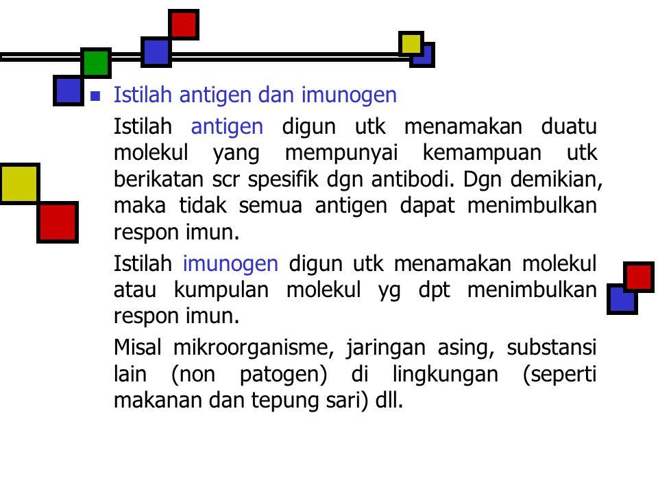 Istilah antigen dan imunogen