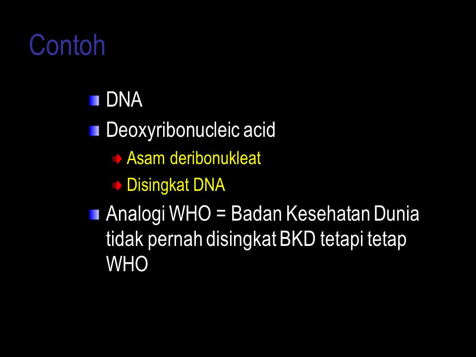 Contoh DNA Deoxyribonucleic acid