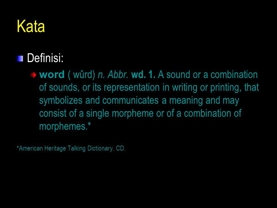 Kata Definisi: