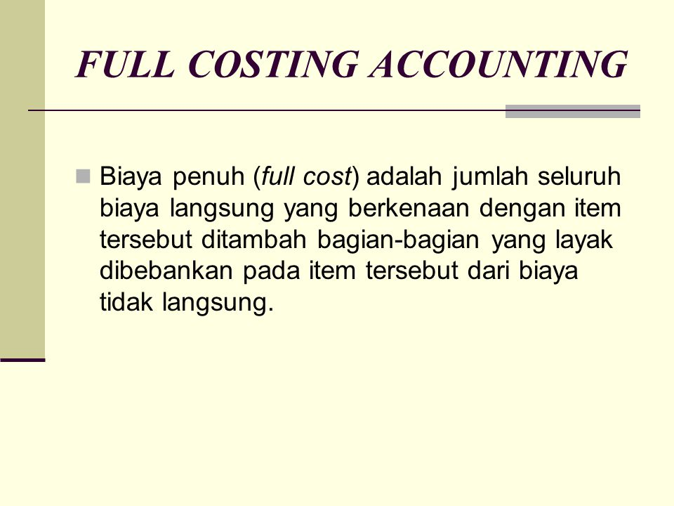 FULL COSTING ACCOUNTING