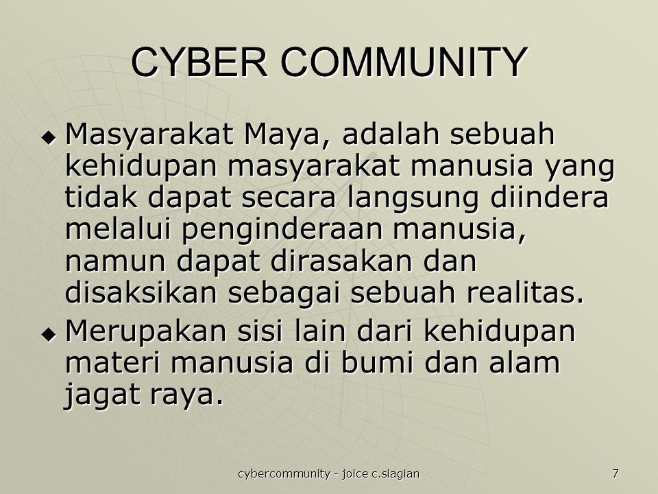 cybercommunity - joice c.siagian