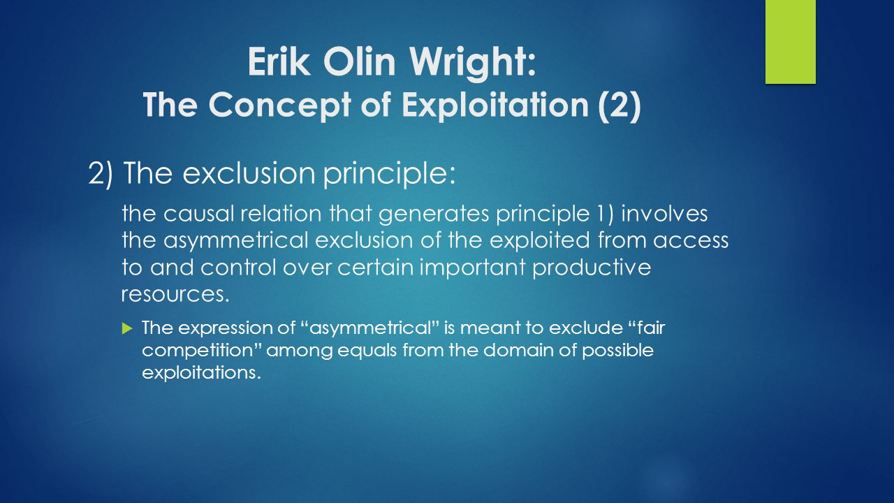 Erik Olin Wright: The Concept of Exploitation (2)