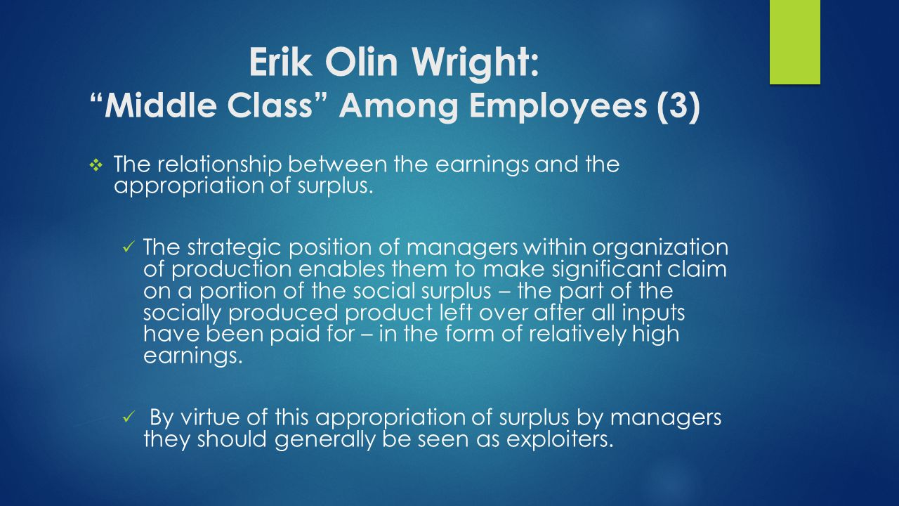 Erik Olin Wright: Middle Class Among Employees (3)