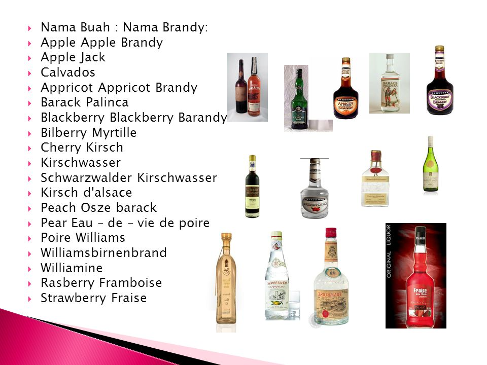 Nama Buah : Nama Brandy: