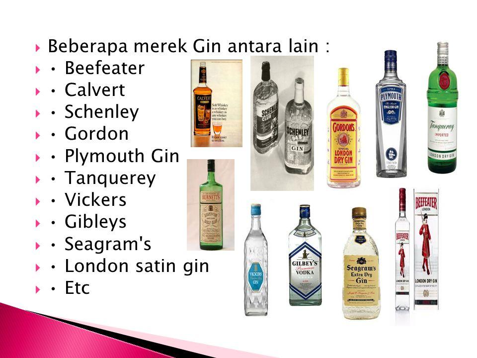 Beberapa merek Gin antara lain :