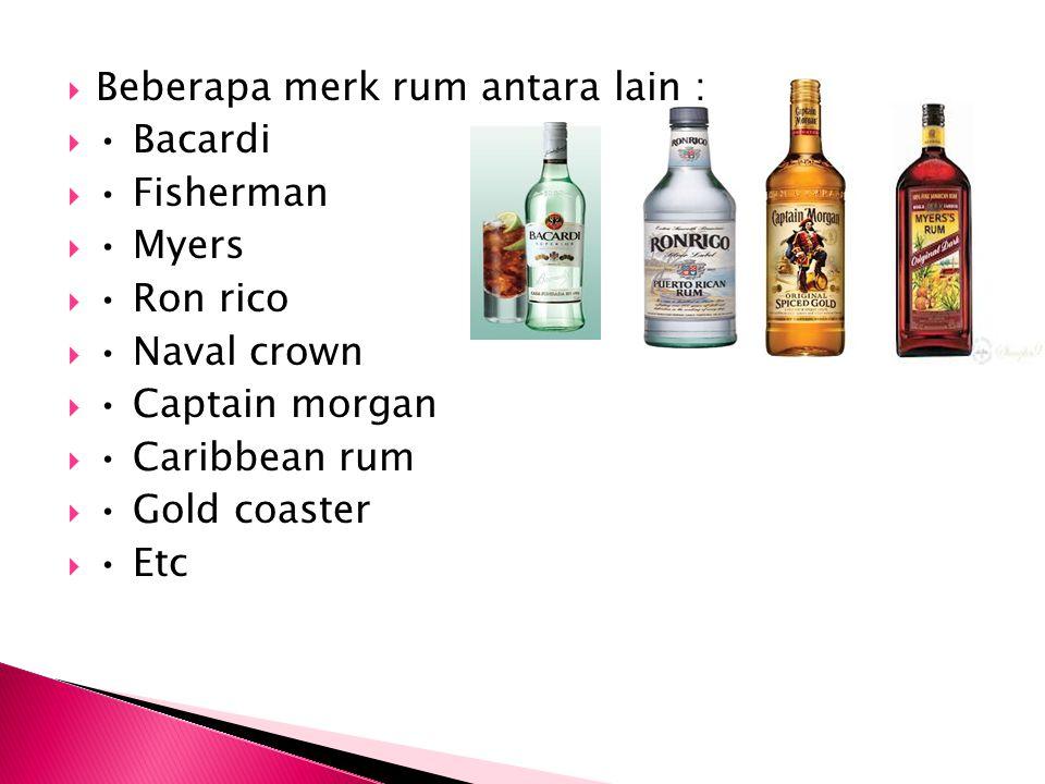 Beberapa merk rum antara lain :