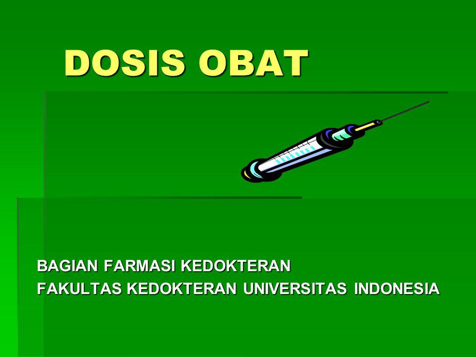 BAGIAN FARMASI KEDOKTERAN FAKULTAS KEDOKTERAN UNIVERSITAS INDONESIA