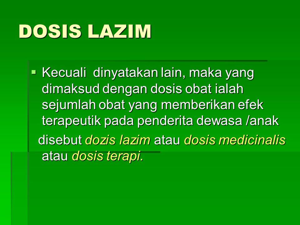 DOSIS LAZIM