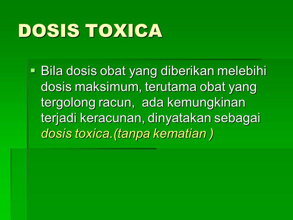 DOSIS TOXICA