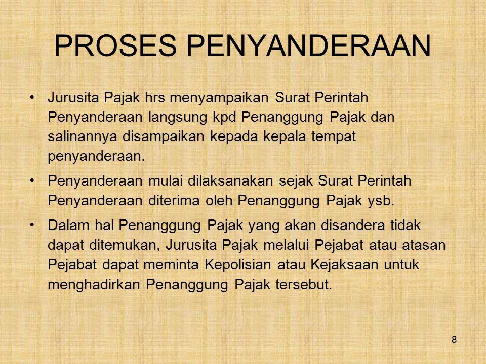 PROSES PENYANDERAAN
