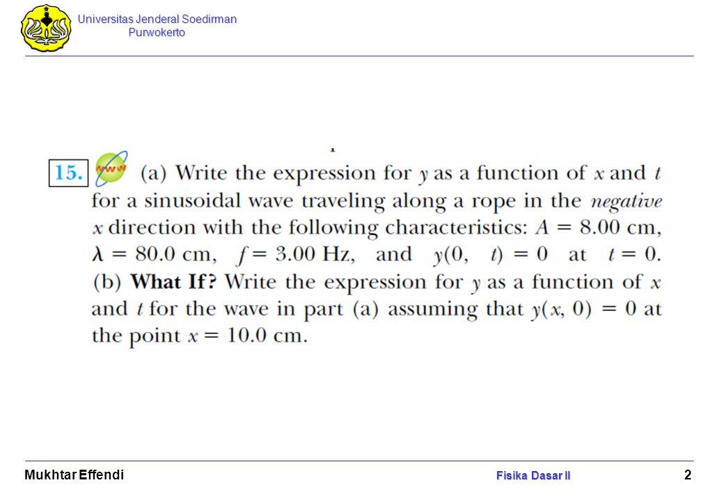 Mukhtar Effendi Fisika Dasar II