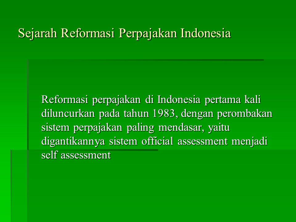 Sejarah Reformasi Perpajakan Indonesia