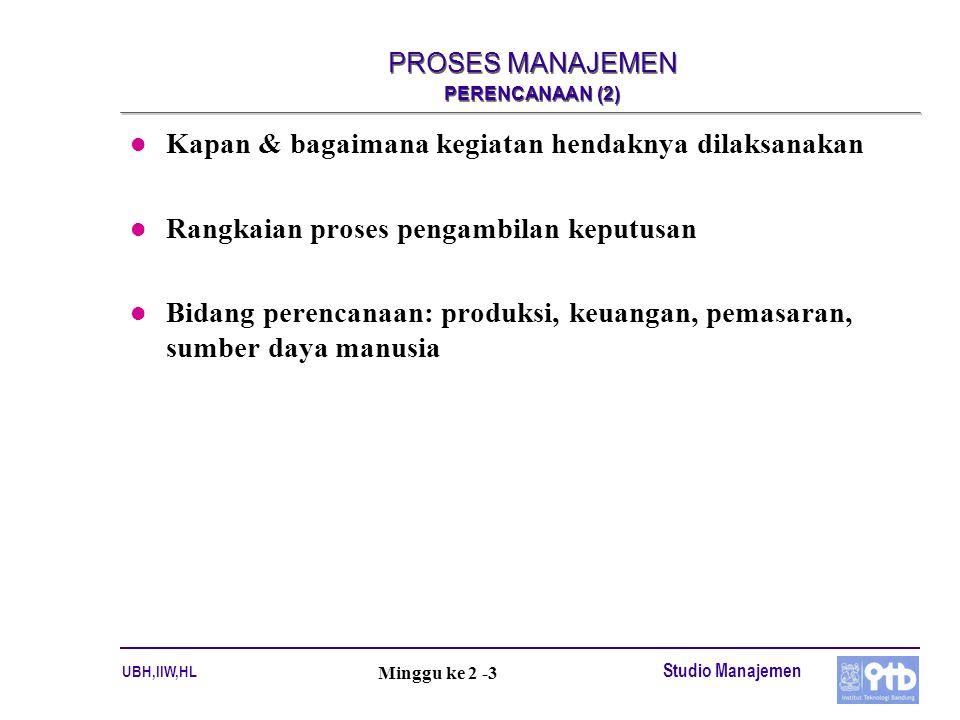 PROSES MANAJEMEN PERENCANAAN (2)