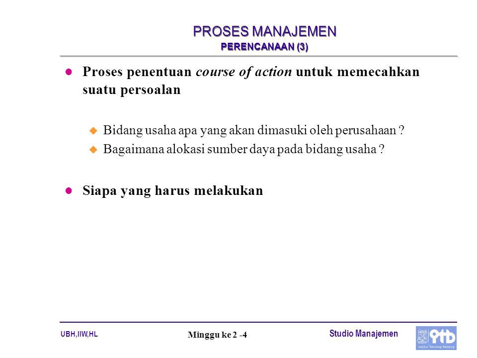 PROSES MANAJEMEN PERENCANAAN (3)