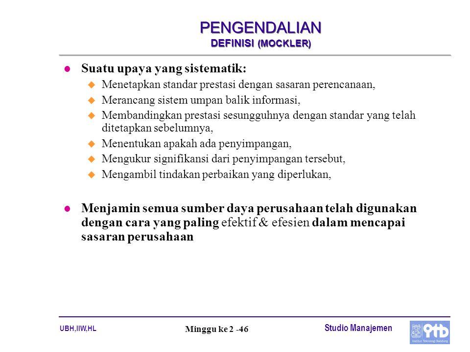 PENGENDALIAN DEFINISI (MOCKLER)
