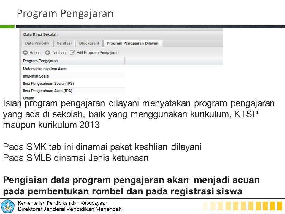 Program Pengajaran