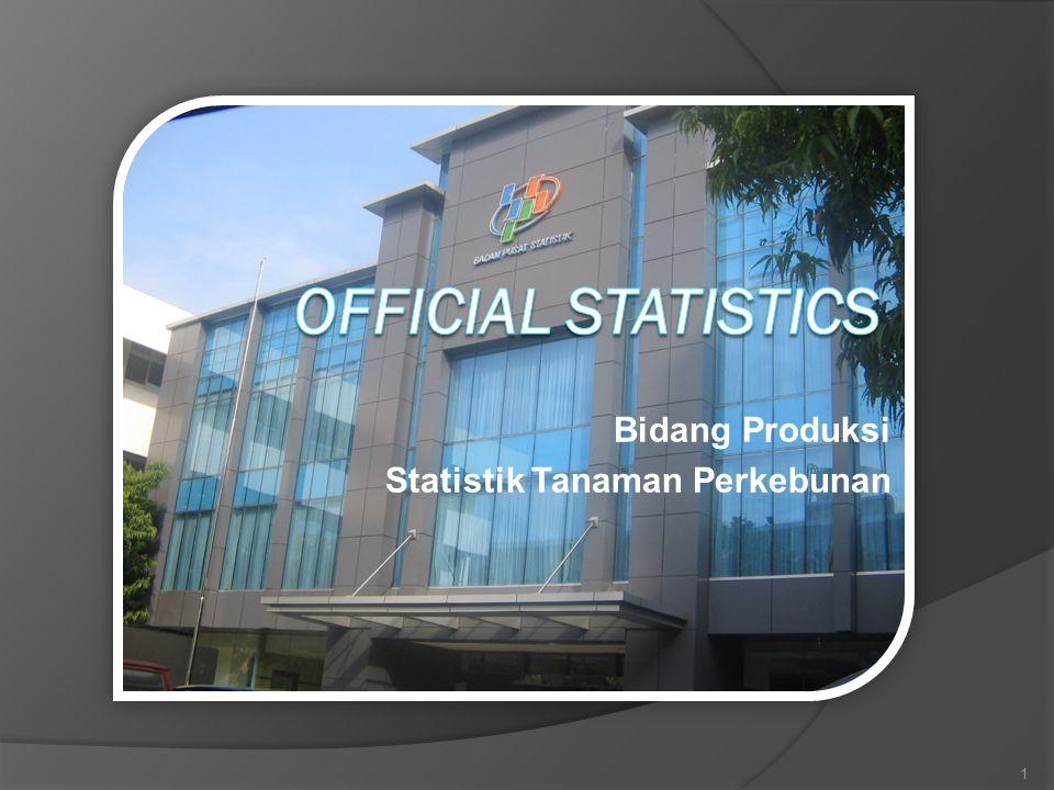 Bidang Produksi Statistik Tanaman Perkebunan